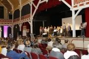 Der Betriebschor der Stiftung Ev. Jugendhilfe Menden sorgt für die musikalische Auflockerung.