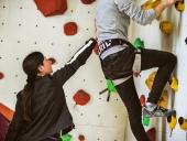 Professionelle Hilfe und Anleitung an der Kletterwand
